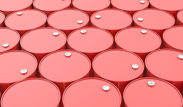 Getty Oil Drums Red