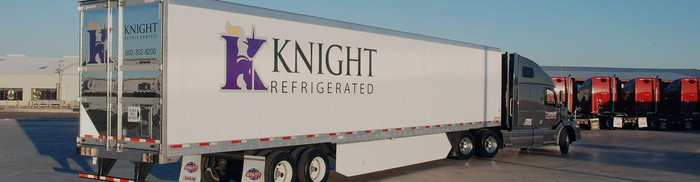 Knight refrigerated truck.