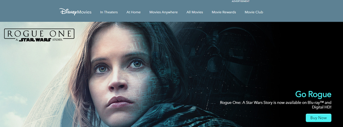 Banner for Rogue One: A Star Wars Story