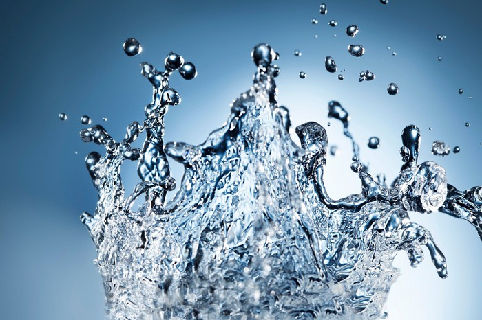 Close-up of a water splash.