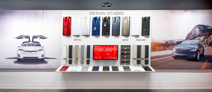 Tesla Design Studio inside a Tesla Store