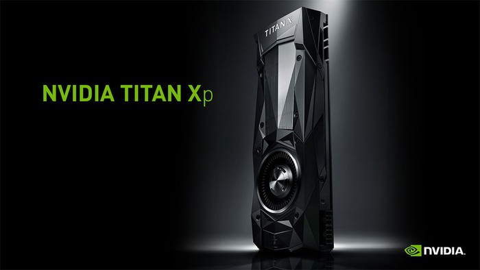 A Titan Xp graphics card from NVIDIA.