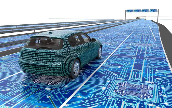 High-tech car concept.