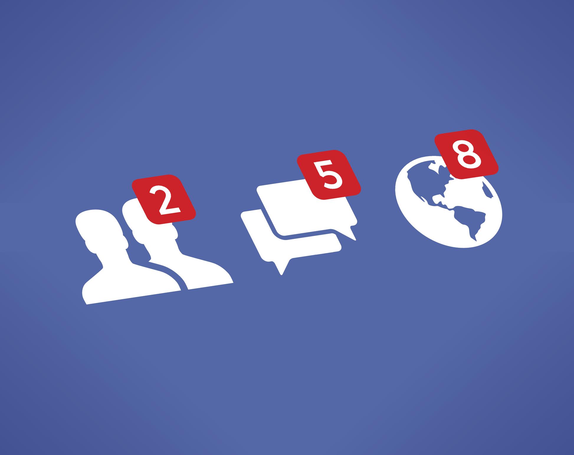 Notifications in the Facebook app