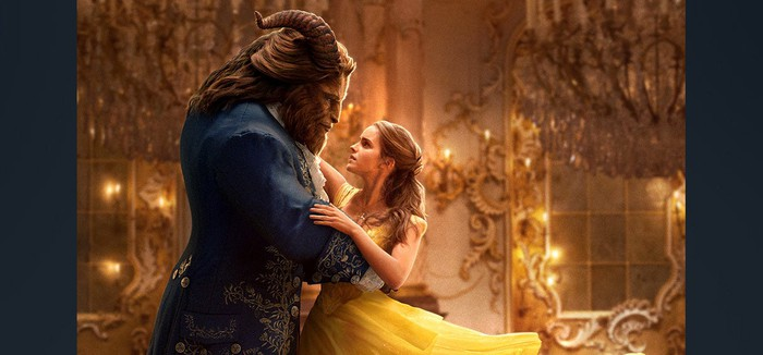 The Beast dancing with Belle.