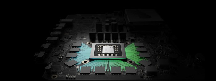 Computer rendering of chips used in Microsoft's upcoming Scorpio.
