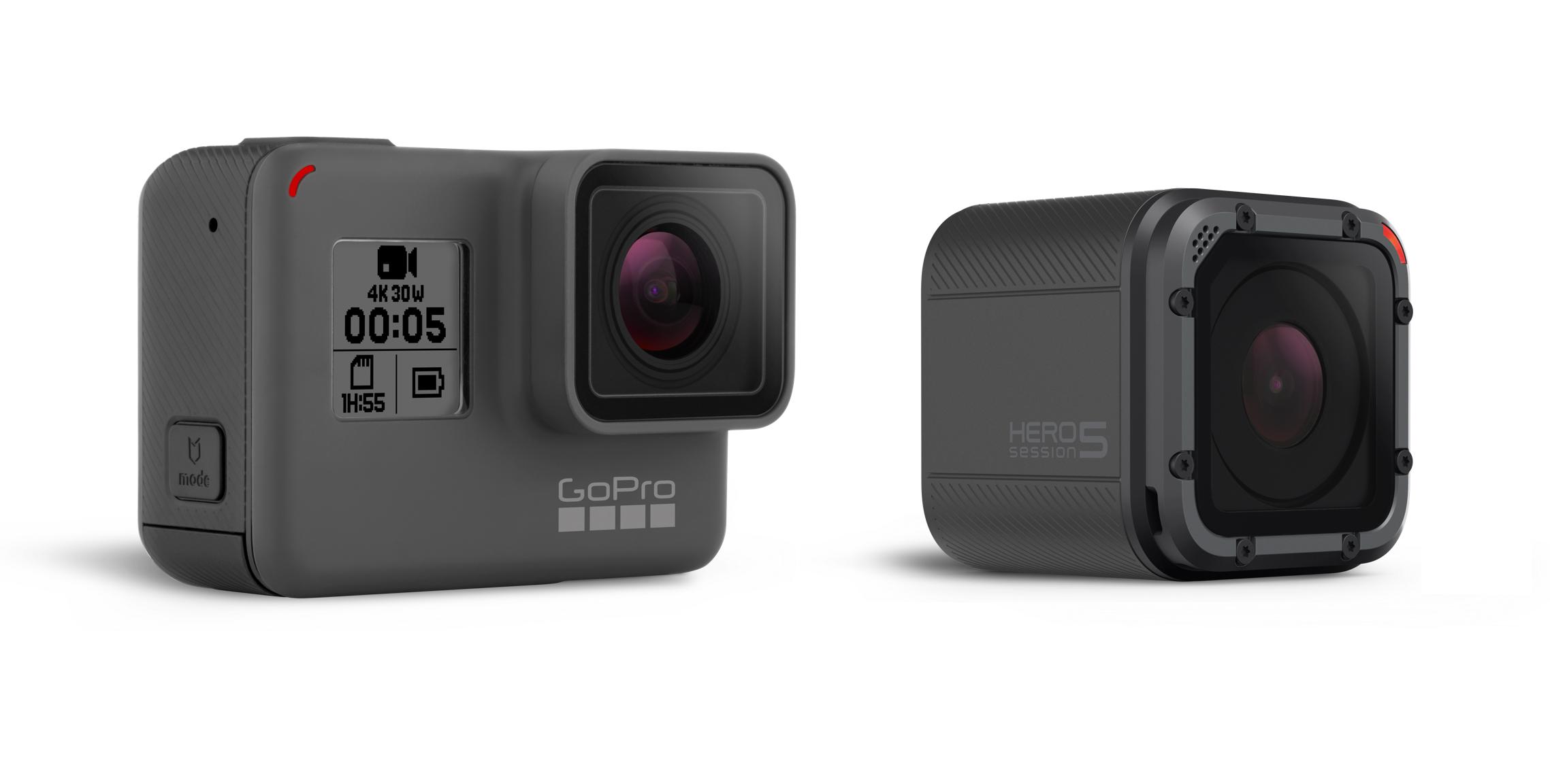 GoPro's HERO5 Black and HERO5 Session cameras