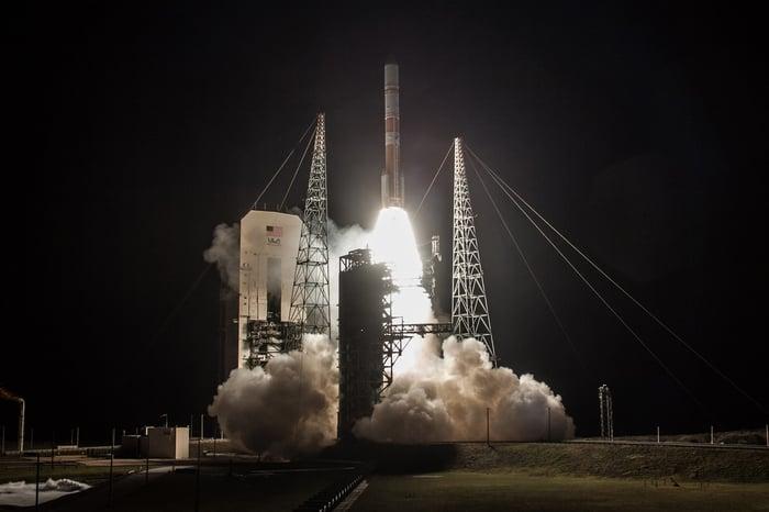 Delta IV at liftoff.