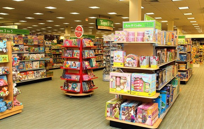 The games and toys section at Barnes & Noble.