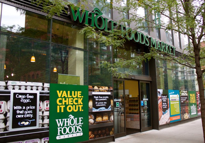 The exterior of a Whole Foods in Tribeca.