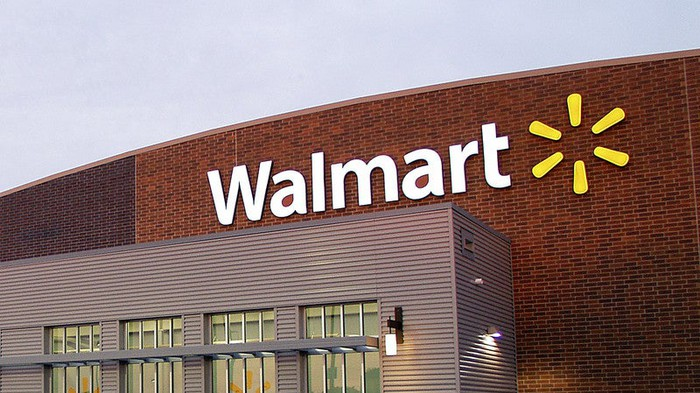 The exterior of a Wal-Mart supercenter