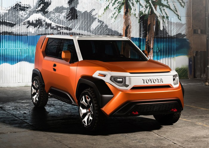 The Toyota FT-4X concept at the New York International Auto Show.