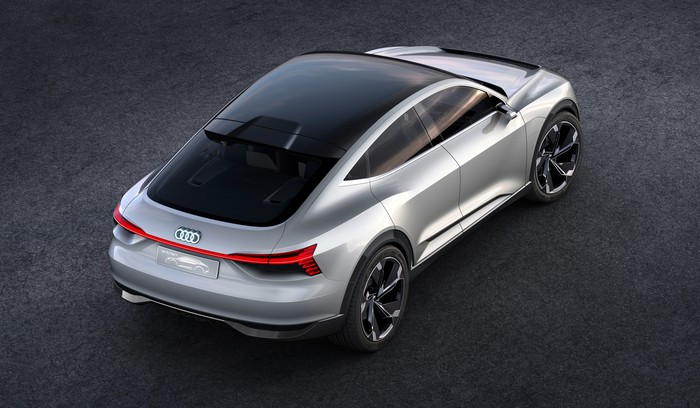 The e-tron Sportback concept SUV, viewed from above