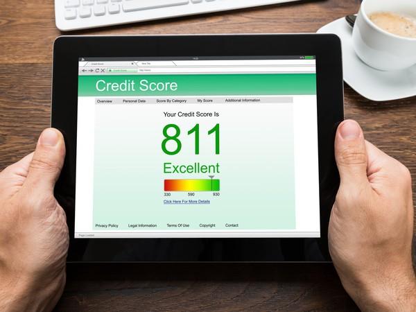 Credit Score Report Shown on Tablet