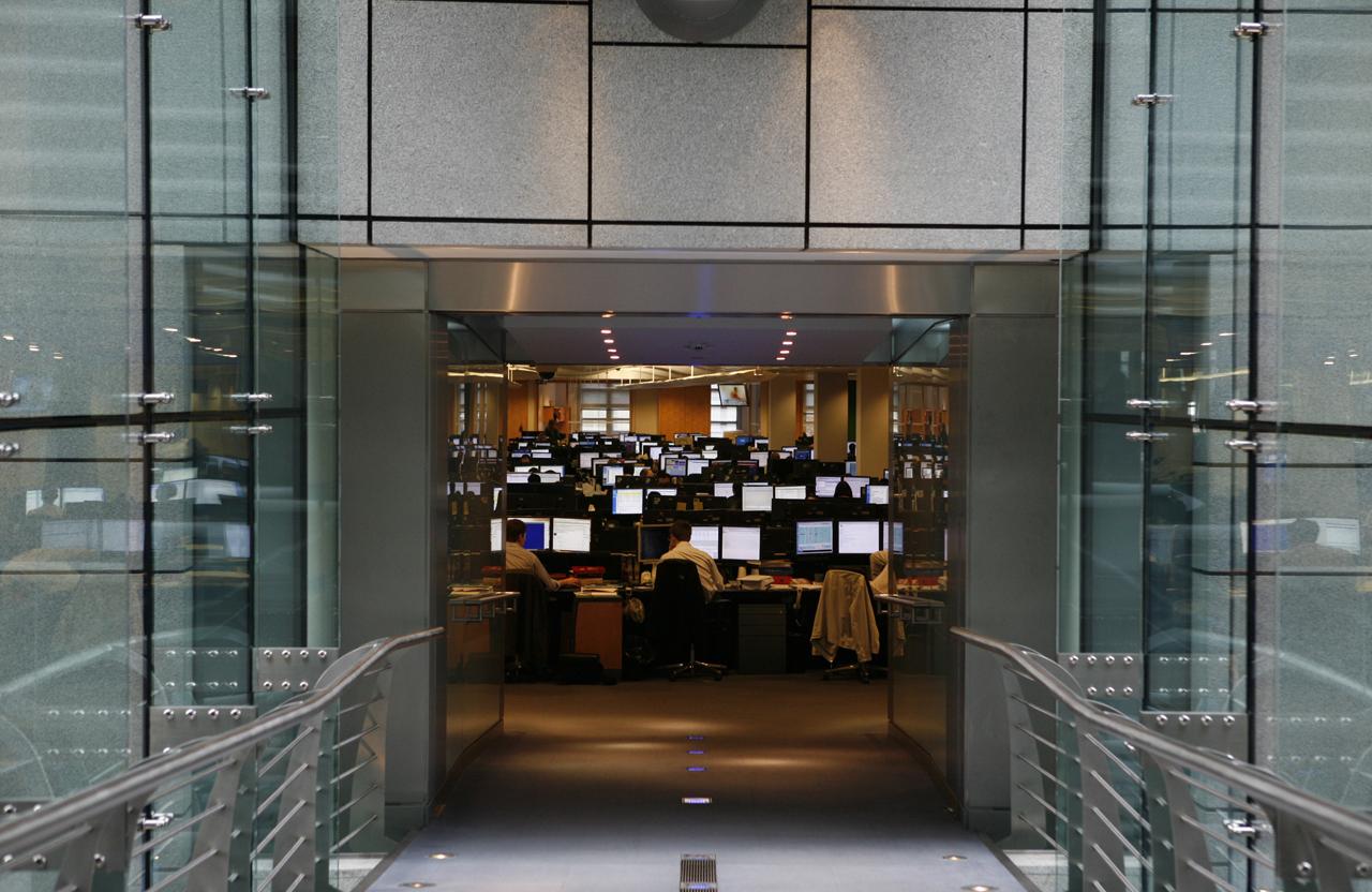 Goldman Sachs trading floor.