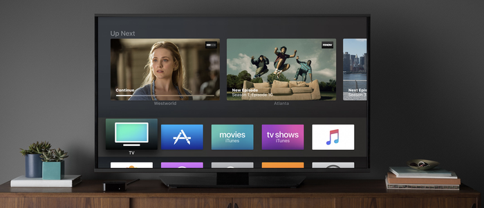 Apple TV in a living room
