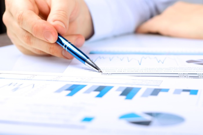 Analyzing financial reports.