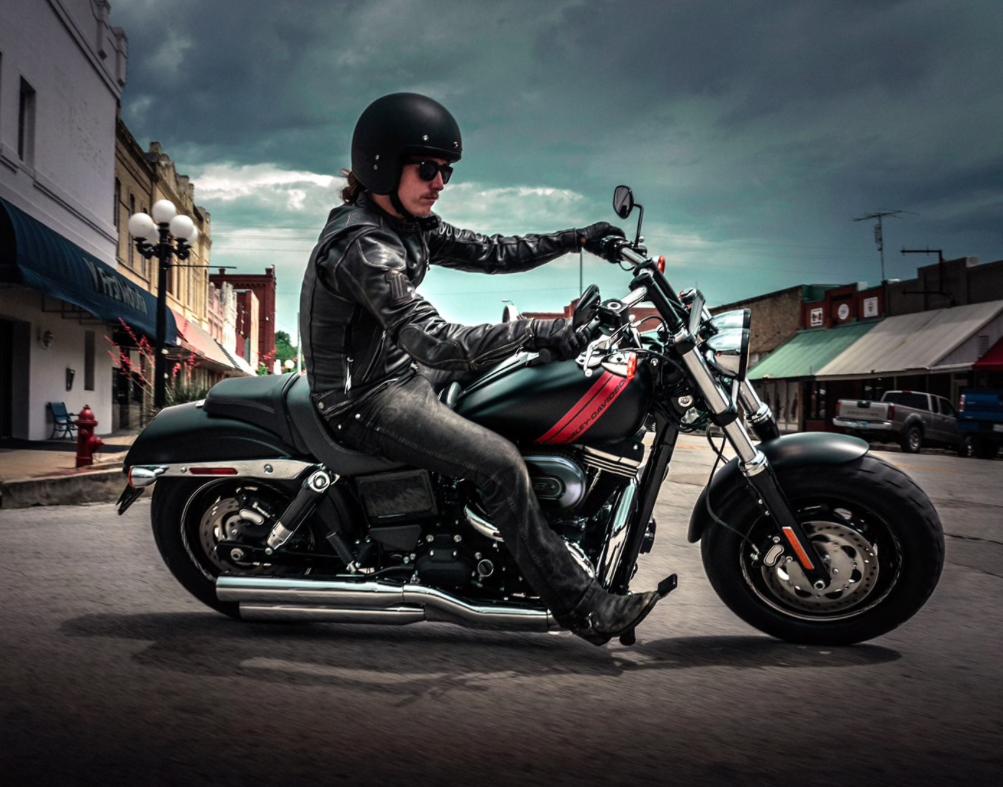 A Harley-Davidson Dark Custom motorcycle