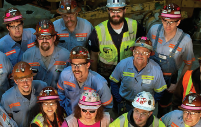 A collection of Barrick Gold employees.