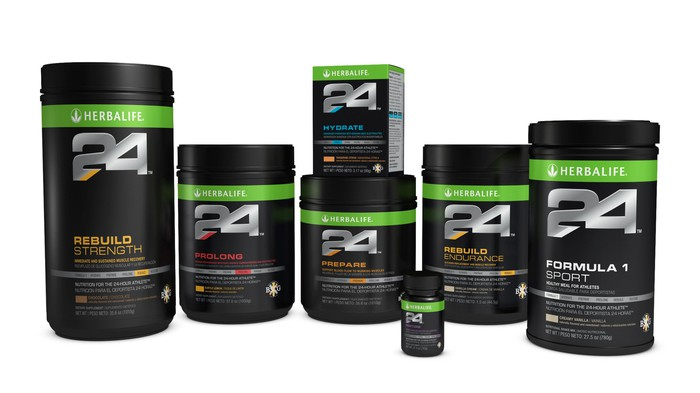 A collection of nutritional supplements.