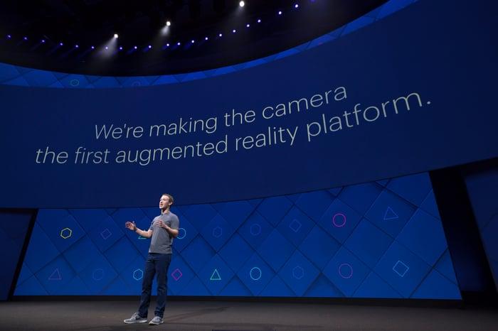 Mark Zuckerberg speaking at F8 2017