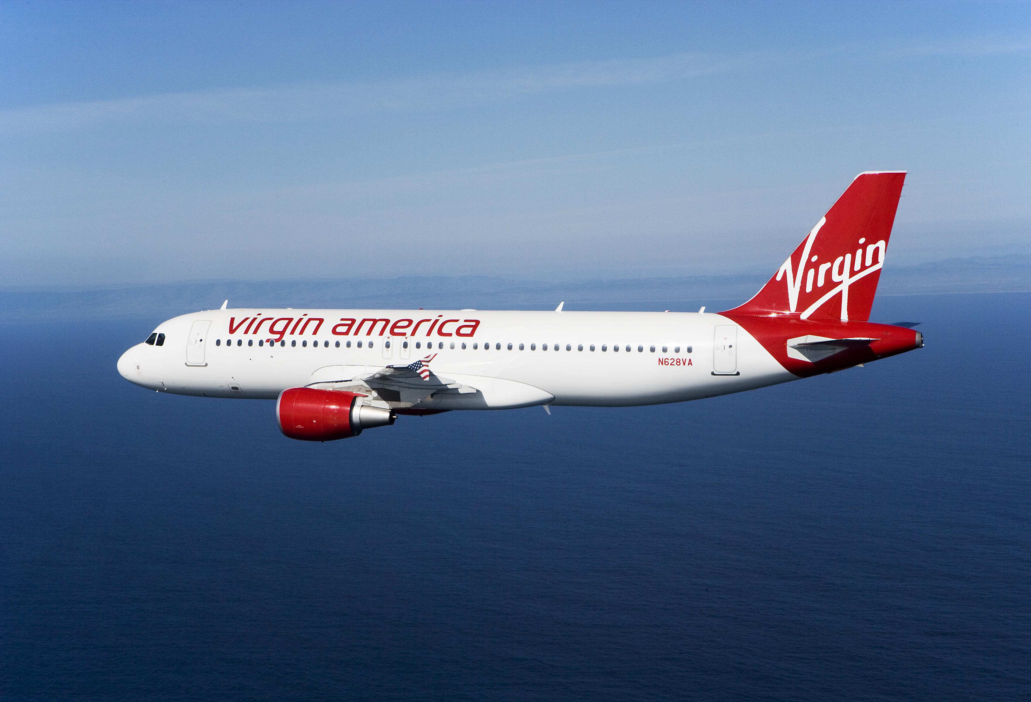 A Virgin America plane