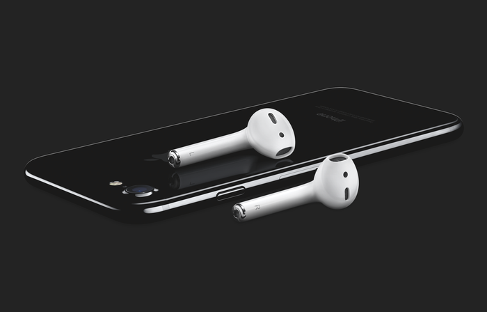 iPhone with Air Pods