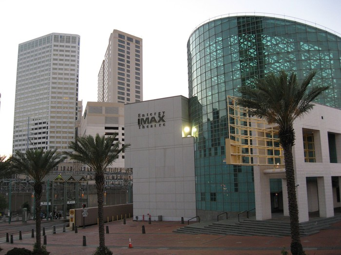 Exterior of the IMAX theater, New Orleans.