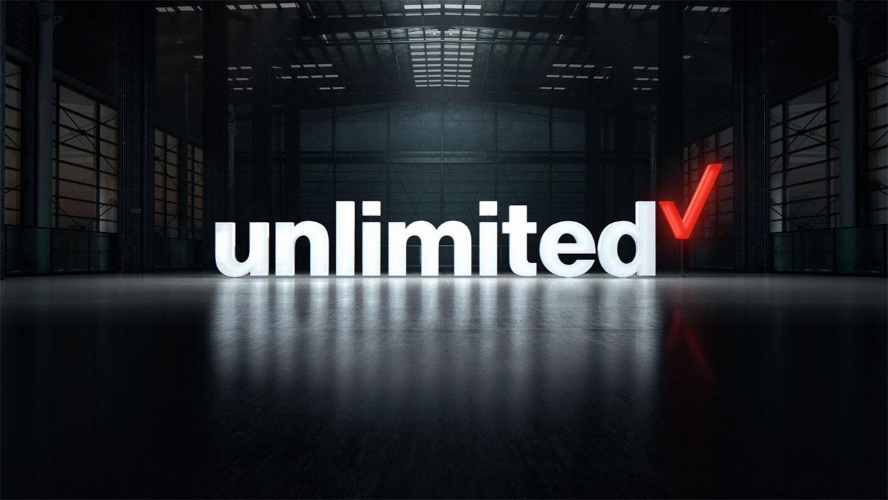 Verizon unlimited logo.