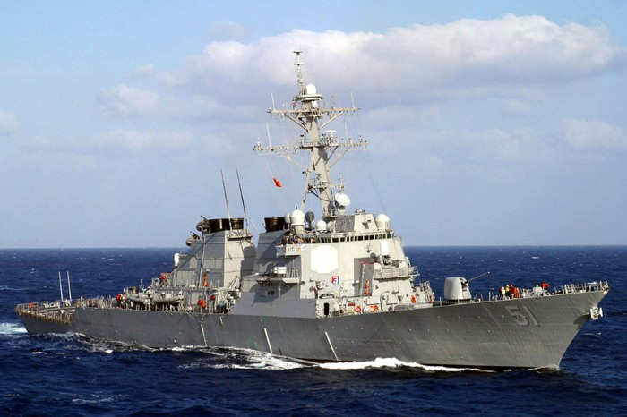 Destroyer USS Arleigh Burke.