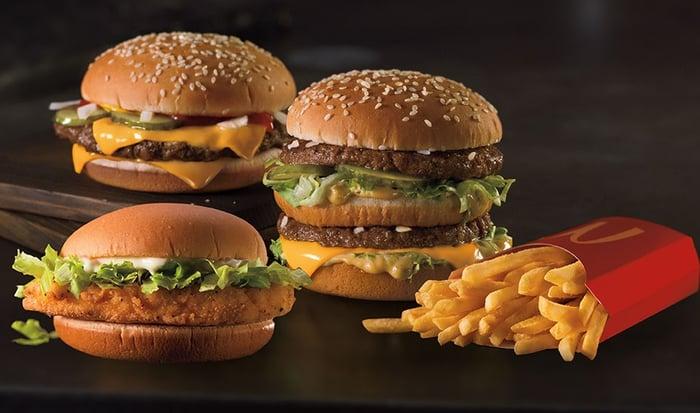 McDonald's burgers and fries