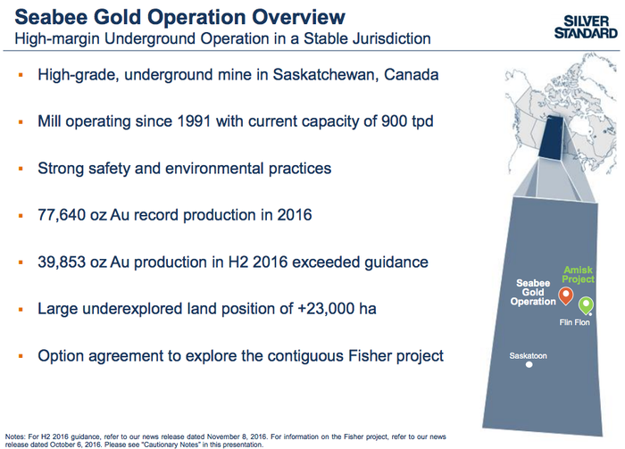An overview of the Seabee mine opportunity.