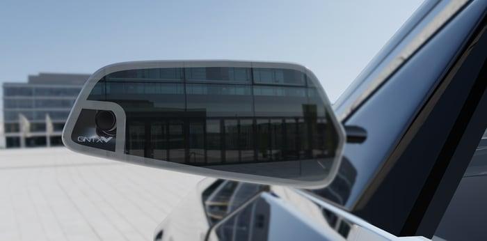 Gentex rear vision system, camera-integrated exterior mirror