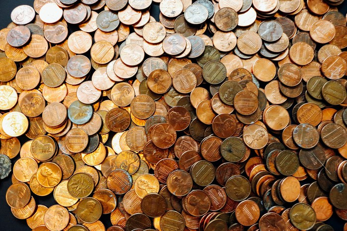 A pile of pennies