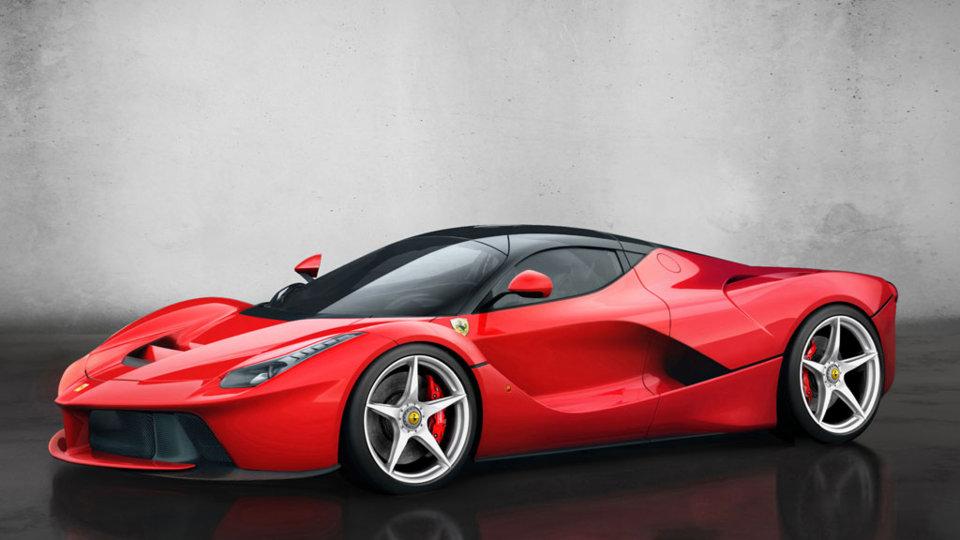 A red LaFerrari sports car.