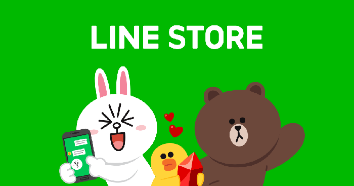 An advertisement for the Line store that has helped to increase the company's revenue.