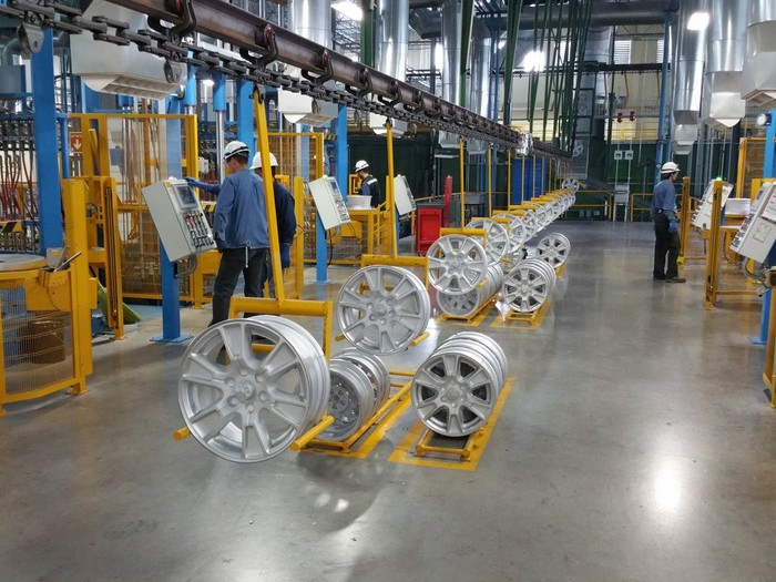 The inside of a Superior wheel manufacturing facility