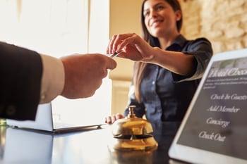 Hotel Guest Gets Keycard