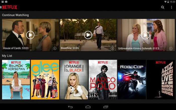 A screenshot of Netflix's streaming service.