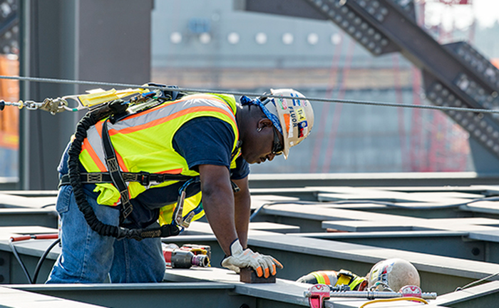A man working on Southern's Vogtle nuclear power plant.