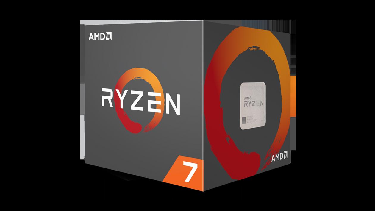 A box containing a Ryzen 7 processor.