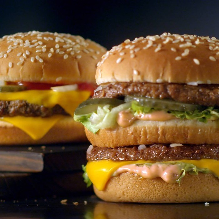 The iconic Big Mac burger.