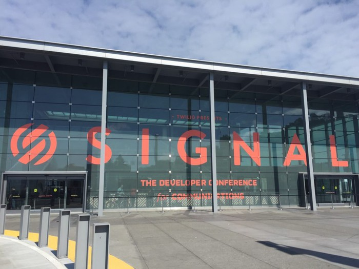 The exterior of the 2016 Twilio Signals conference for developers.