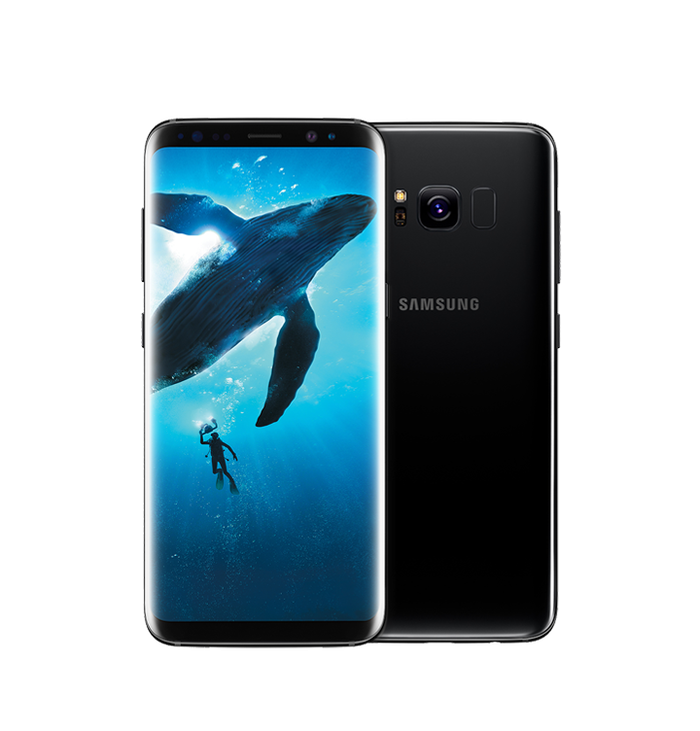 Image of a Samsung Galaxy S8.
