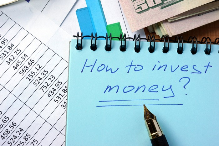 "Notebook on which is written ""how to invest money"""