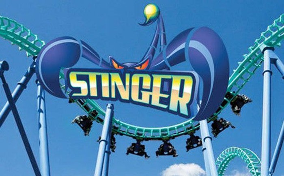 A roller-coaster at a Cedar Fair park.