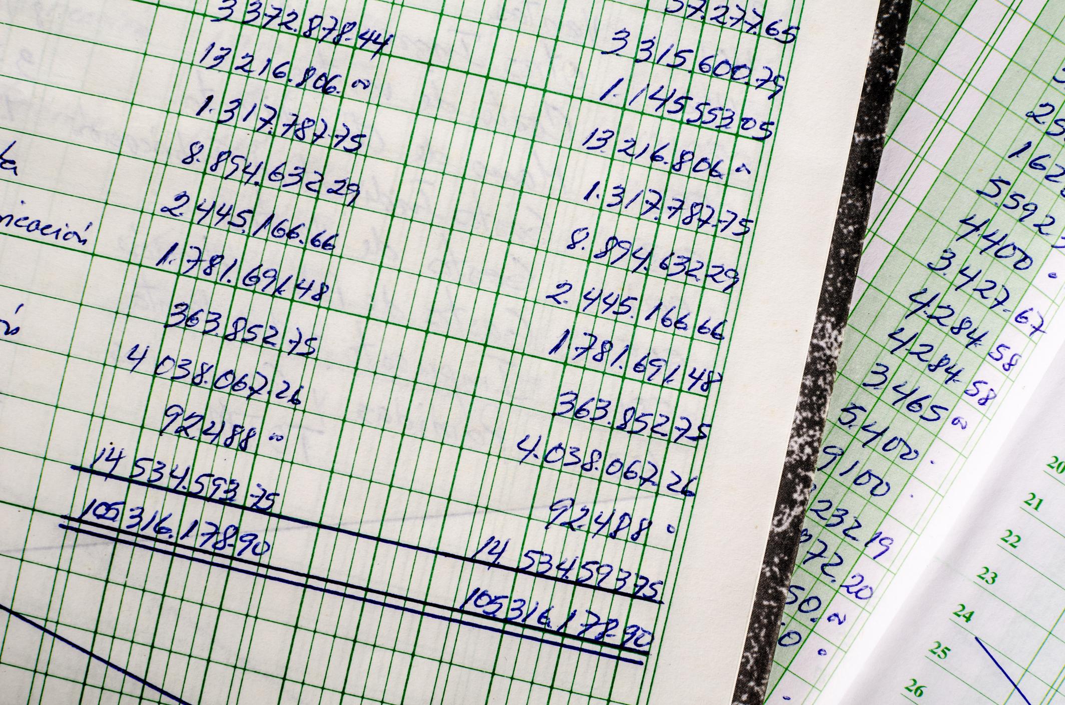 Accounting books.