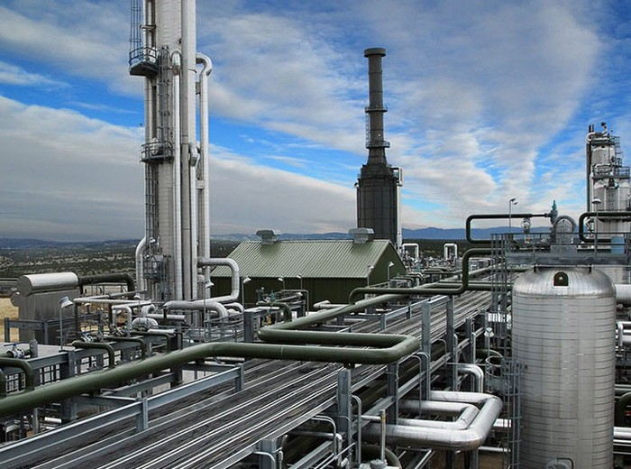 Gas processing facility.