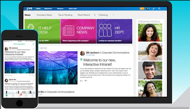 Jive software screenshot