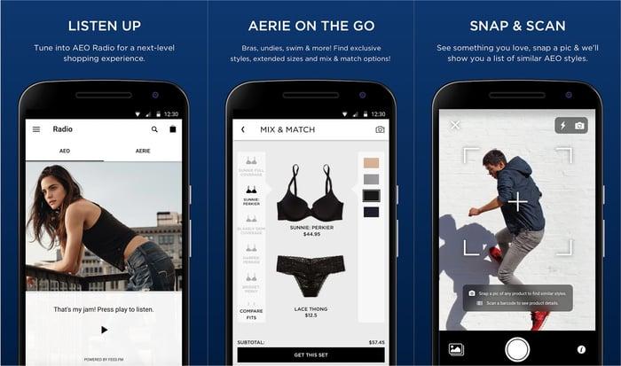 AEO's mobile app.